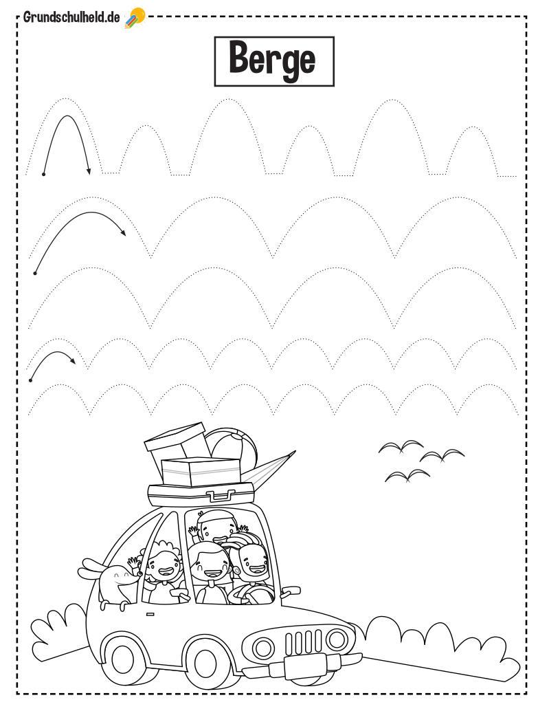 Arbeitsblätter Vorschule 20 ▷ kostenlos zum Ausdrucken